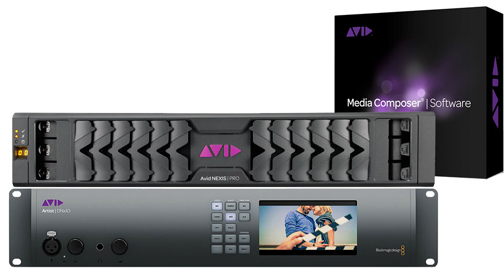 Avid Artist DNxIO, Avid Nexis Pro Storage, Avid Media Composer Software