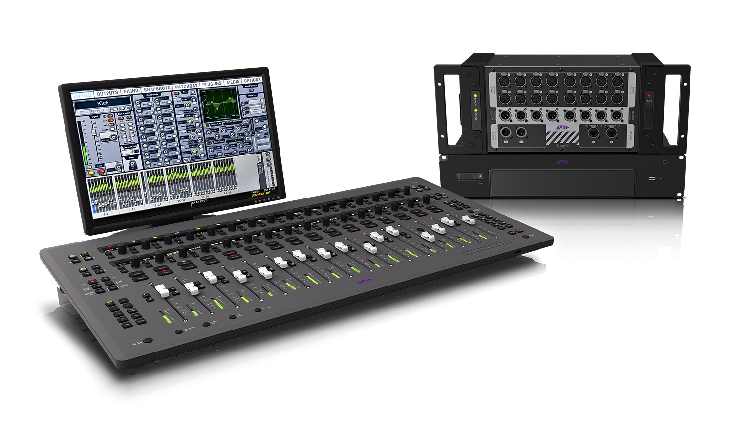 Avid S3 Control surface and interface