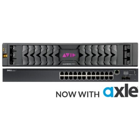 Avid Nexis E2 Storage, Dell Switch, and Axle Asset Management