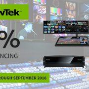 Newtek financing promotion thru September 2018