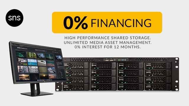 0% Interest on SNS EVO Shared Storage, Up to 12 Months