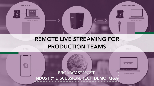 Remote Live Streaming For Production Teams
